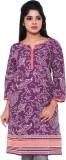 Old Khaki Casual Floral Print Women's Ku...