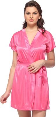 Vixenwrap Women's Robe(Pink) at flipkart