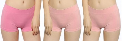 Bahucharaji Creation Women's Boy Short Pink Panty(Pack of 3) at flipkart