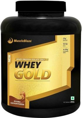 MuscleBlaze Whey Gold Whey Protein(2 kg, Rich Milk Chocolate)