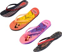 Indistar Women Orange:Yellow::Pink:Blue::Red:Black ::Black Sandals