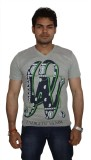 Zero Seven Printed Men's V-neck Grey T-S...