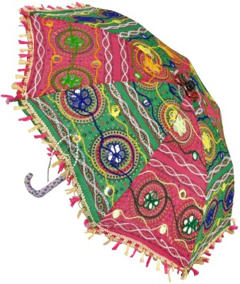 Lal Haveli Cotton Girls Women Kids Umbrella(Multicolor)