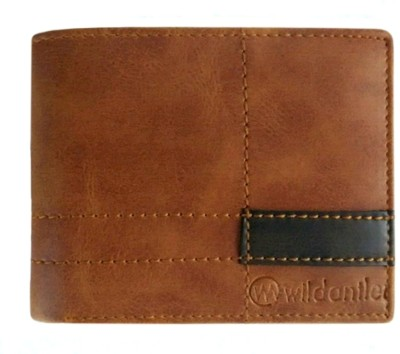 Wildantler Men Multicolor Genuine Leather Wallet(6 Card Slots)