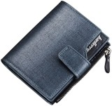 Baellerry Men Blue Genuine Leather Walle...