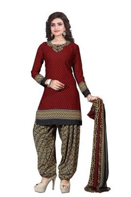 Fashion Valley Crepe Printed Salwar Suit Dupatta Material(Un-stitched) at flipkart