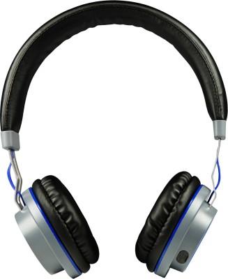 boat Rockerz 390 bluetooth Headphones(Blue, On the Ear)