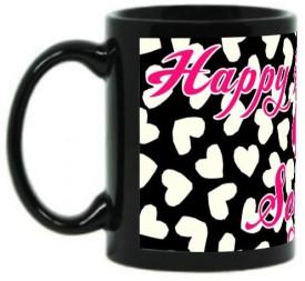 Muggies Magic Happy Birthday Soyam Kate Spade Design Coffee Ceramic Mug(325 ml)