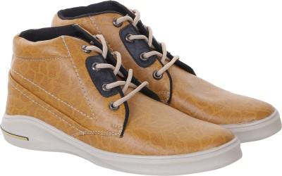 Quarks Leopard print Boots Casuals(Tan)