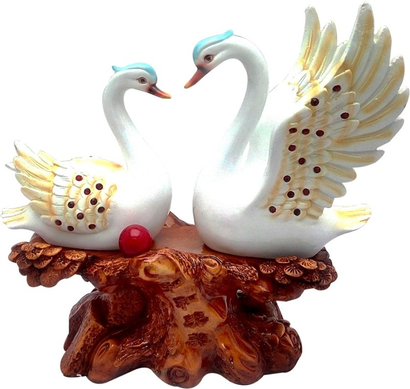 ART N HUB Duck Love Couple Bird Figurine Home Interior Décor Statue Gift(H-30 CM) Showpiece  -  30 cm(Earthenware, Multicolor)