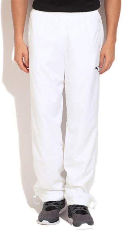 PUMA Woven Men & Women White Track Pants