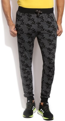 John Players Printed Mens Black, Grey Track Pants