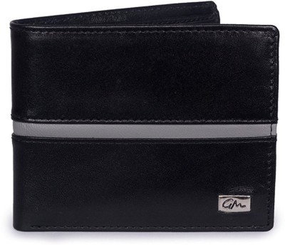 Gentleman Men Black, Grey Genuine Leather Wallet(8 Card Slots)