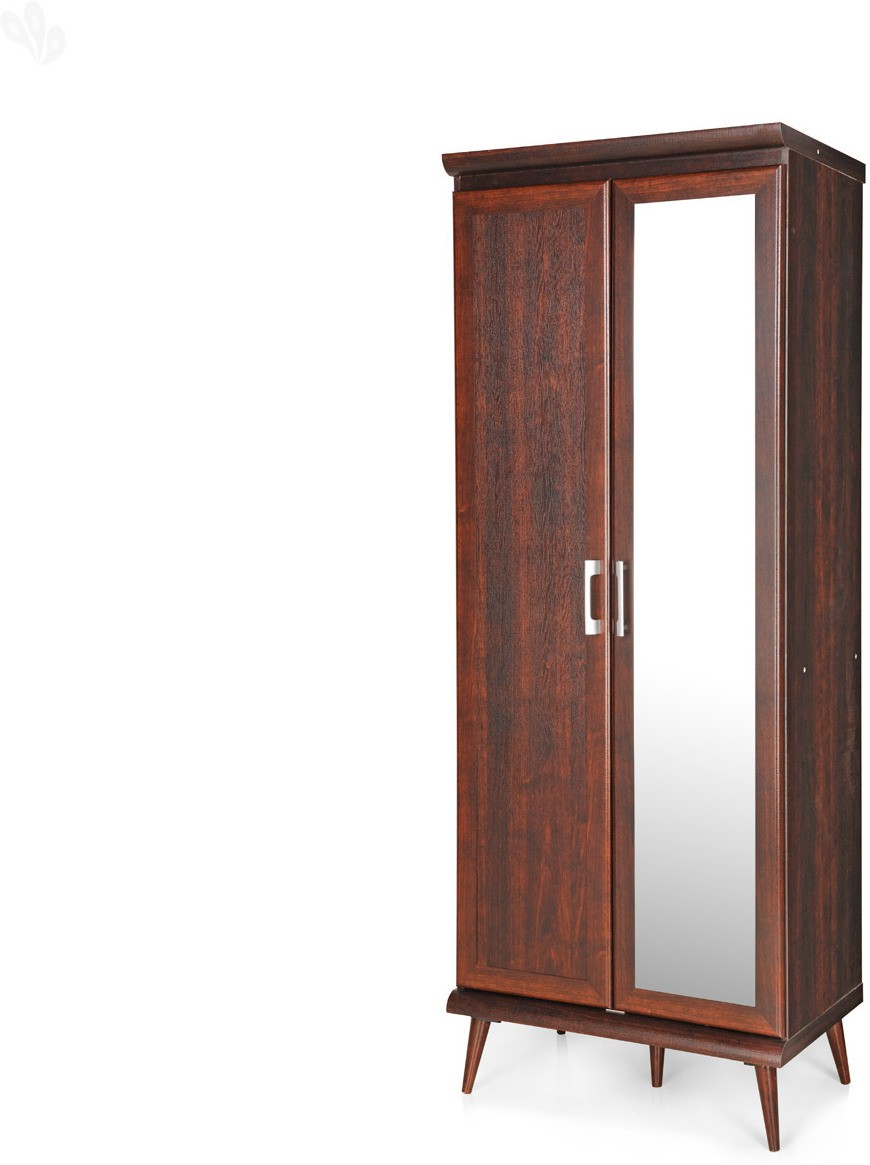 View Berlynoak Kiwi Engineered Wood 2 Door Modular Wardrobe(Finish Color - Walnut, Mirror Included) Furniture (Berlynoak)