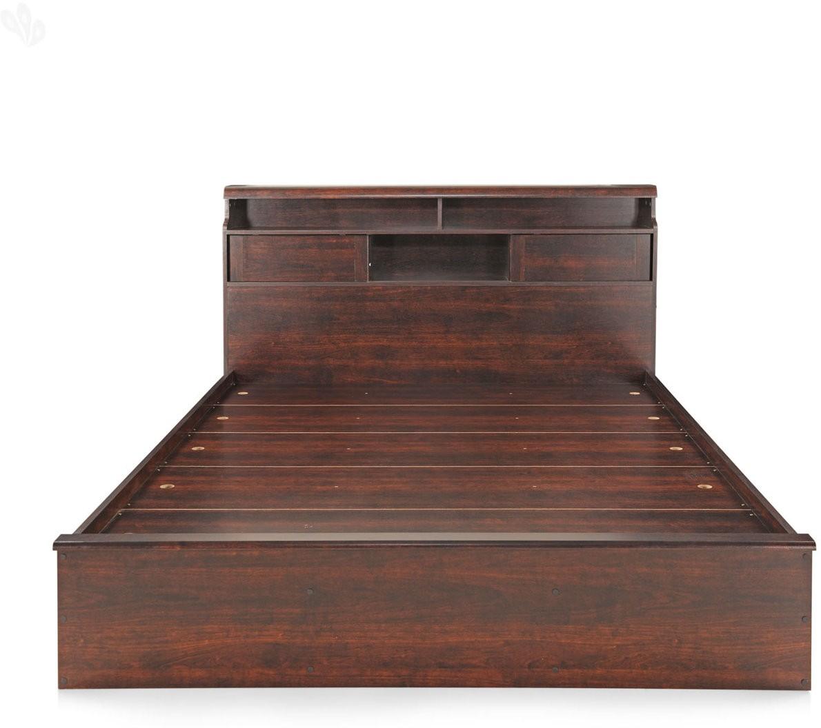 View Berlynoak Kiwi Engineered Wood Queen Bed(Finish Color -  Walnut) Furniture (Berlynoak)