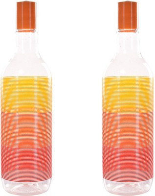 TRUENOW VENTURES Pvt. Ltd unbreakable Printed 900 ml Bottle(Pack of 2, Orange)