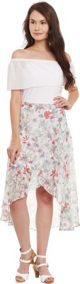 Athena Women's Fit and Flare Multicolor Dress at flipkart