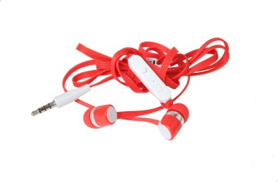 Candytech S20 U Wired Headphones(Red, In the Ear)