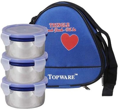 Topware TP016 Triangle SS 3 Containers Lunch Box(900 ml)