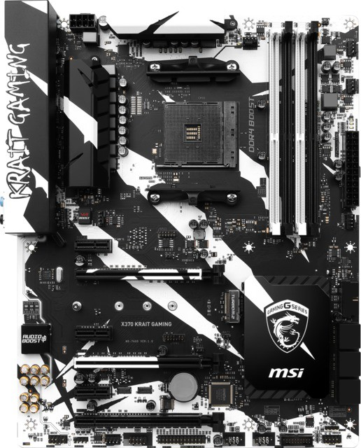 MSI X370 KRAIT GAMING Motherboard(Black)