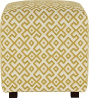 ARRA Solid Wood Standard Ottoman(Finish Color - Beige GOLDEN)