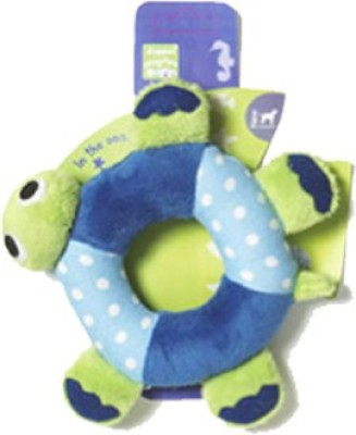 Pet Brands Cuddly Turtle Ring Cotton Plush Toy For Dog & Cat