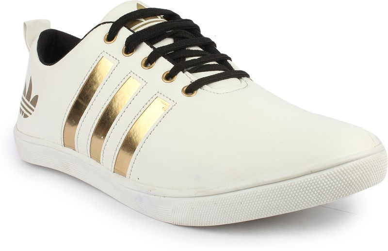 Pede Milan Sneakers(White, Gold)