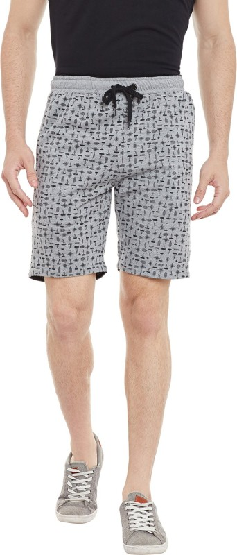 Duke Printed Men's Grey Bermuda Shorts