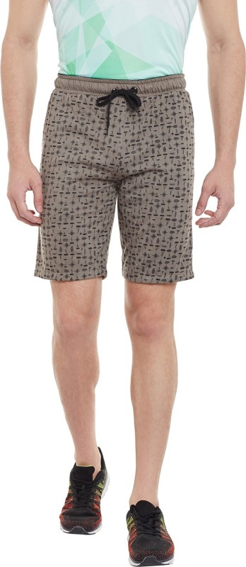 Duke Printed Men's Brown Bermuda Shorts