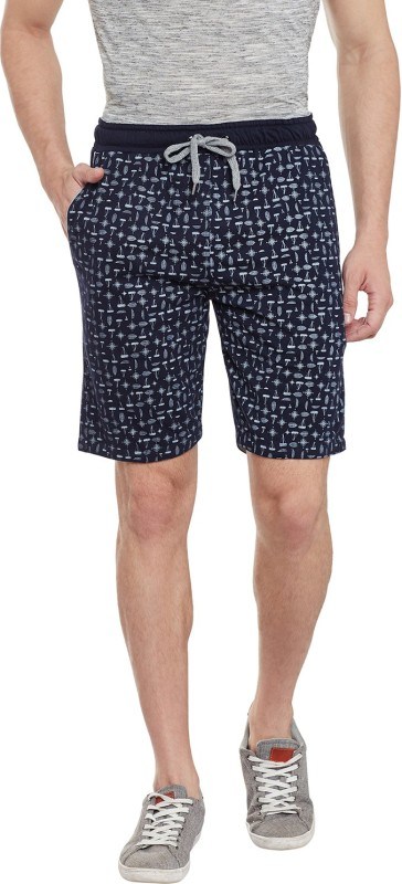 Duke Printed Men's Dark Blue Bermuda Shorts