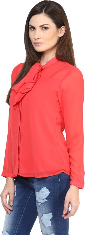 Rare Casual Full Sleeve Solid Women's Pink Top