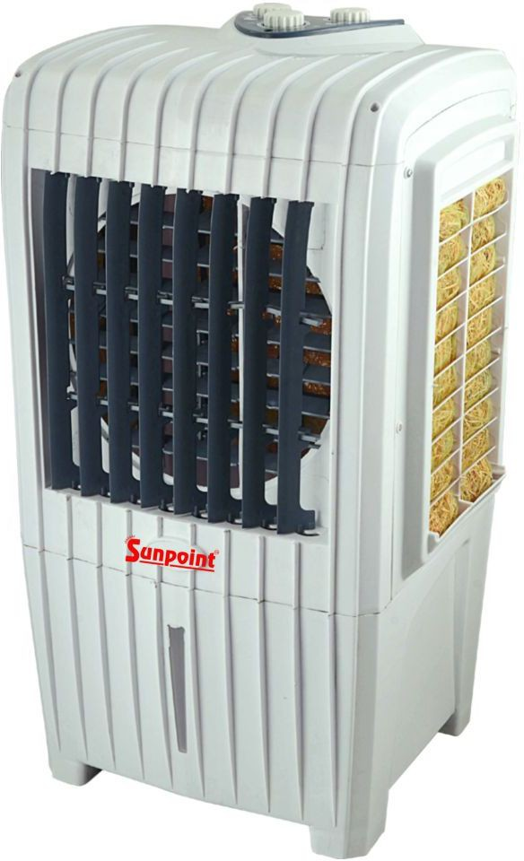 View SUNPOINT Tower Long Room Air Cooler(Grey, 25 Litres)  Price Online