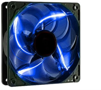 Shrih Blue LED Case Cabinet Fan Cooler(Black)