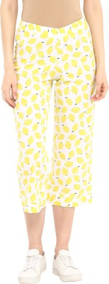 Cayman Graphic Print Women's Yellow Track Pants at flipkart