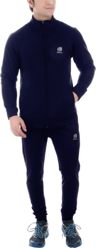 SKELOW Solid Men's Track Suit