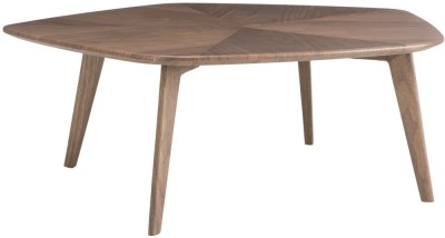 Durian PENTAGON Engineered Wood Coffee Table(Finish Color - Walnut)