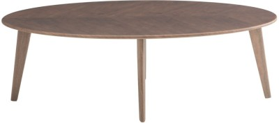 Durian ELIPSE Engineered Wood Coffee Table(Finish Color - Walnut)