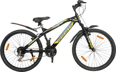 HERCULES Top Gear Fx100 18 26x17 Black & Yellow HEFX10026BKYW Mountain Cycle(Multicolor)