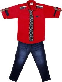 Bad Boys Boys Casual Shirt Pant(Multicolor)