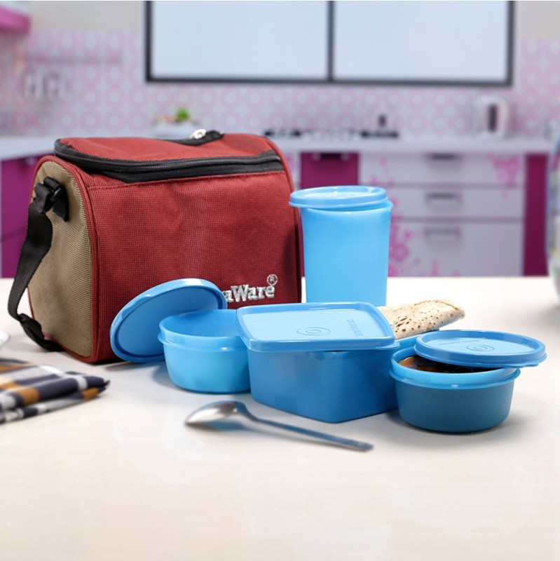 Signoraware 562 4 Containers Lunch Box(980 ml)