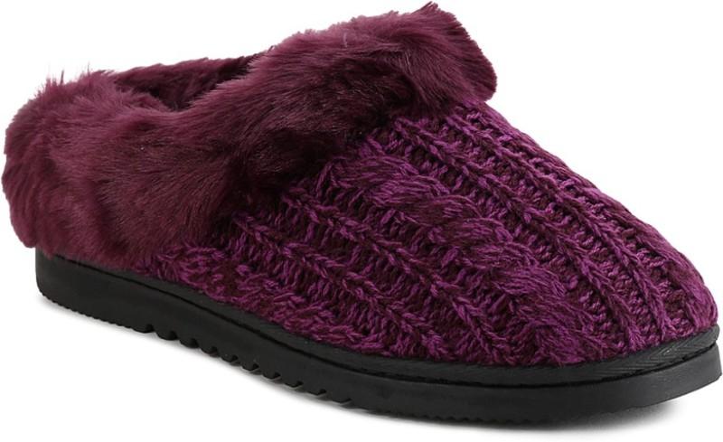 Dearfoams Women Purple Clogs