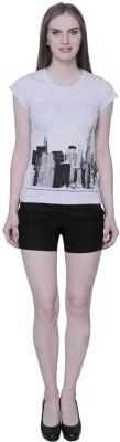 18toeightys Solid Women's Black Basic Shorts at flipkart
