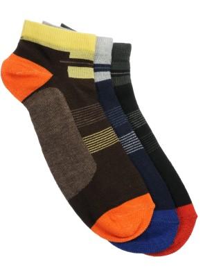 Alvaro Castagnino Mens Striped Ankle Length Socks(Pack of 3)