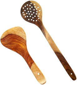 SG Shahi Disposable Wooden Cooking Spoon Set(Pack of 2)
