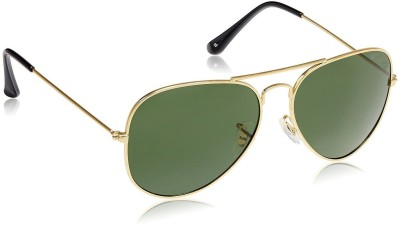 Lisburn SG_Aviator_Black_Lens_Gold_frame_1 Aviator Sunglasses(Black) at flipkart