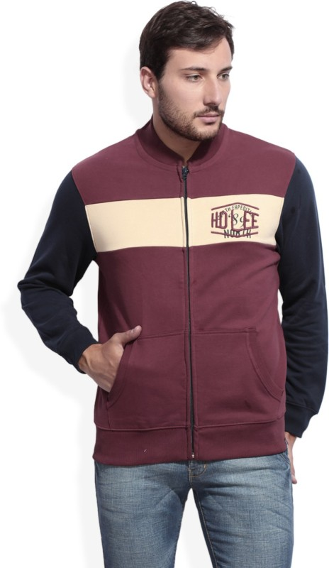 Lee Full Sleeve Self Design Men's Sweatshirt