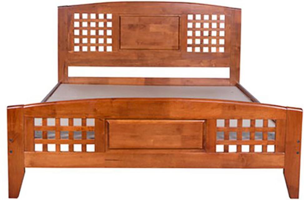 Hometown Solid Wood Queen Bedfinish Color Light Oak Furniture