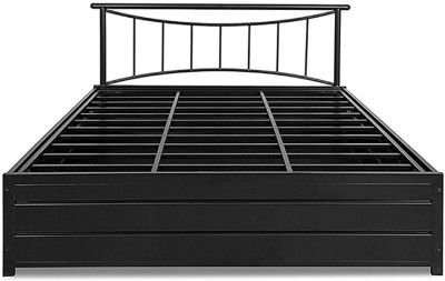 HomeTown Metal Queen Bed With Storage(Finish Color - Black)