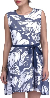 18toeightys Womens Gathered Blue Dress