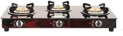Wonderchef Wonderchef Zing 3 burner glass cooktop Borosilicate Glass Automatic Gas Stove